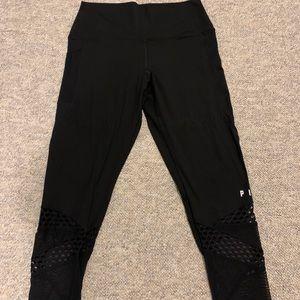 PINK Black Mesh Leggings